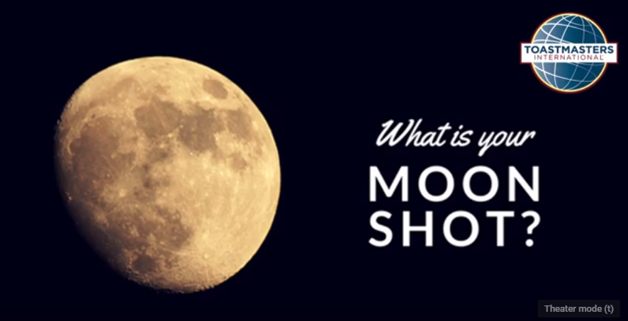 Moon image with the words 'What is your Moon Shot?""