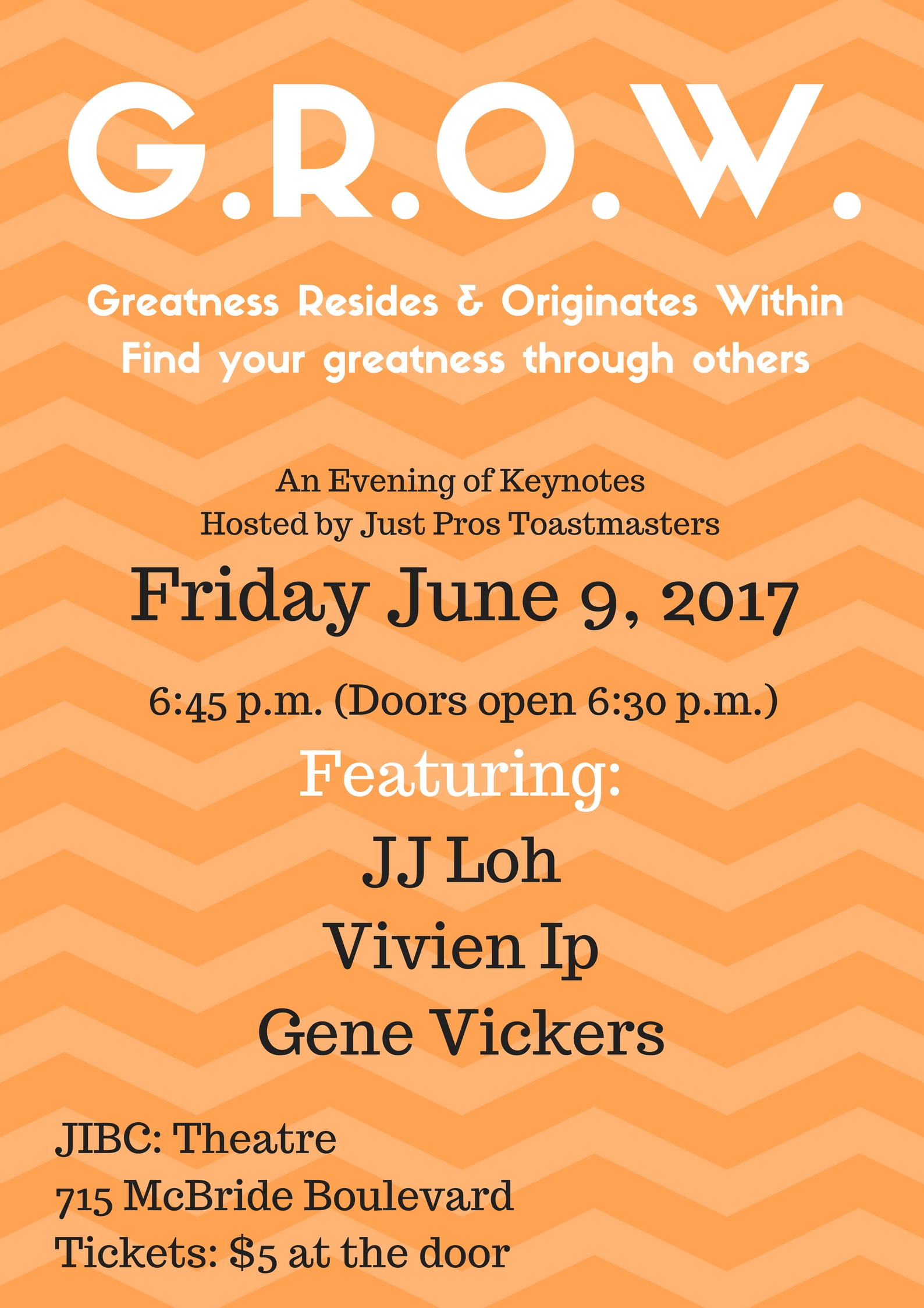 GROW: Greatness Resides and Originates Within! Come and see us June 9, 2017!
