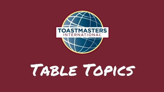 Toastmasters Table Topics Marathon