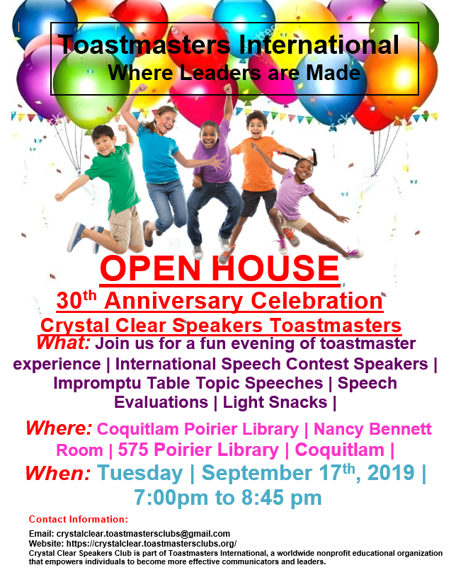 30 Year Celebration Open House - Sept 17th, 2019